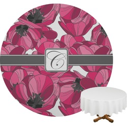 Tulips Round Tablecloth (Personalized)
