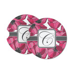 Tulips Sandstone Car Coasters (Personalized)