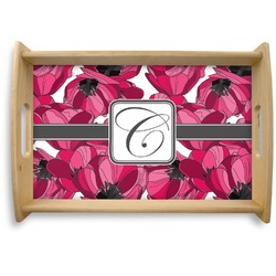 Tulips Natural Wooden Tray (Personalized)