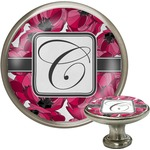 Tulips Cabinet Knob (Silver) (Personalized)