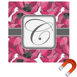 Tulips Square Car Magnet (Personalized)