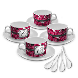 Tulips Tea Cup - Set of 4 (Personalized)