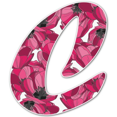 Tulips Letter Decal - Custom Sizes (Personalized)