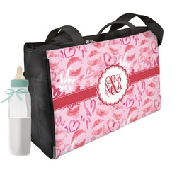 Lips n Hearts Diaper Bag (Personalized)