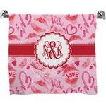 Lips n Hearts Full Print Bath Towel (Personalized)