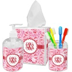 Lips n Hearts Acrylic Bathroom Accessories Set w/ Couple's Names
