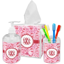 Lips n Hearts Bathroom Accessories Set (Personalized)