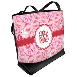Lips n Hearts Beach Tote Bag (Personalized)