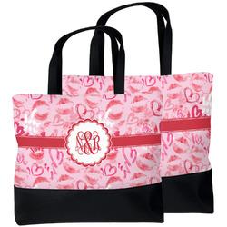 Lips n Hearts Beach Tote Bag (Personalized)