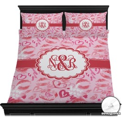 Lips n Hearts Duvet Cover Set (Personalized)