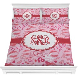 Lips n Hearts Comforter Set (Personalized)