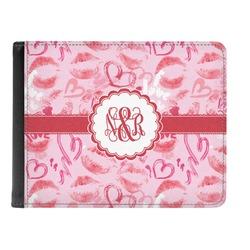 Lips n Hearts Genuine Leather Men's Bi-fold Wallet (Personalized)