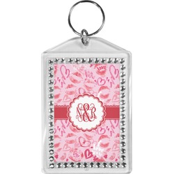 Lips n Hearts Bling Keychain (Personalized)