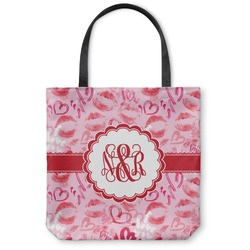 Lips n Hearts Canvas Tote Bag (Personalized)