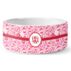 Lips n Hearts Pet Bowl (Personalized)