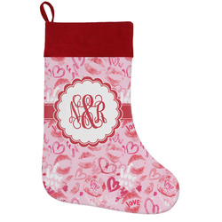 Lips n Hearts Holiday / Christmas Stocking (Personalized)