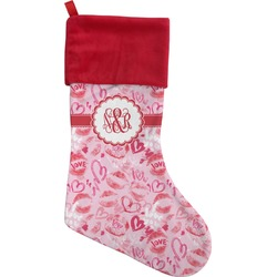 Lips n Hearts Christmas Stocking (Personalized)