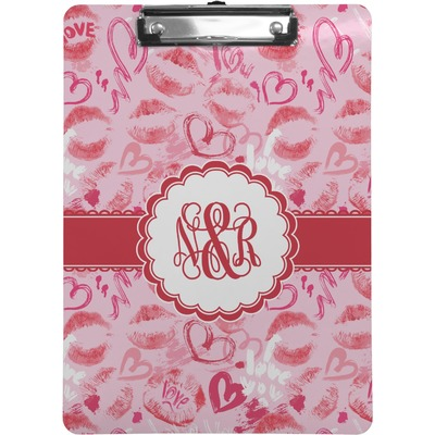 Lips n Hearts Clipboard (Personalized)