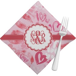 Lips n Hearts Napkins (Set of 4) (Personalized)