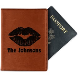 Lips n Hearts Leatherette Passport Holder (Personalized)
