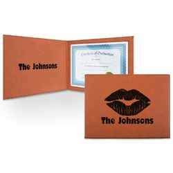 Lips n Hearts Leatherette Certificate Holder (Personalized)