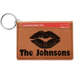 Lips n Hearts Leatherette Keychain ID Holder (Personalized)