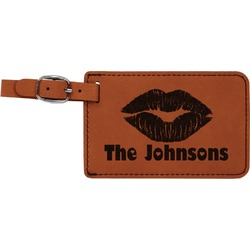 Lips n Hearts Leatherette Luggage Tag (Personalized)