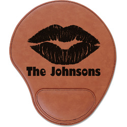 Lips n Hearts Leatherette Mouse Pad with Wrist Support (Personalized)