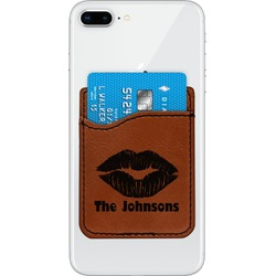 Lips n Hearts Leatherette Phone Wallet (Personalized)