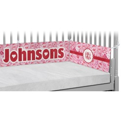 Lips n Hearts Crib Bumper Pads (Personalized)