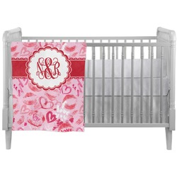 Lips n Hearts Crib Comforter / Quilt (Personalized)