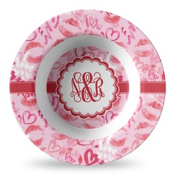Lips n Hearts Plastic Bowl - Microwave Safe - Composite Polymer (Personalized)