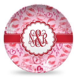 Lips n Hearts Microwave Safe Plastic Plate - Composite Polymer (Personalized)