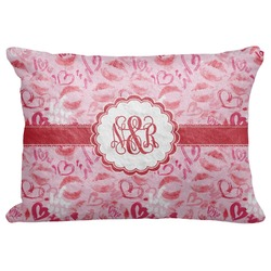 "Lips n Hearts Decorative Baby Pillowcase - 16""x12"" (Personalized)"