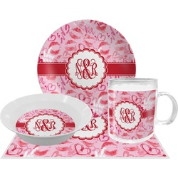 Lips n Hearts Dinner Set - 4 Pc (Personalized)
