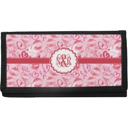 Lips n Hearts Canvas Checkbook Cover (Personalized)