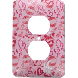 Lips n Hearts Electric Outlet Plate (Personalized)