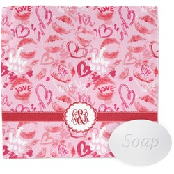 Lips n Hearts Wash Cloth (Personalized)