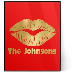 Lips n Hearts 8x10 Foil Wall Art - Red (Personalized)