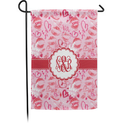 Lips n Hearts Garden Flag - Single or Double Sided (Personalized)