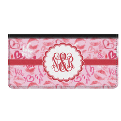 Lips n Hearts Genuine Leather Checkbook Cover (Personalized)