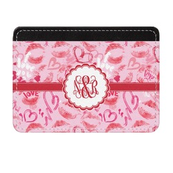 Lips n Hearts Genuine Leather Front Pocket Wallet (Personalized)