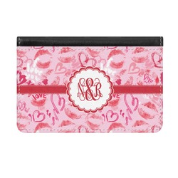 Lips n Hearts Genuine Leather ID & Card Wallet - Slim Style (Personalized)