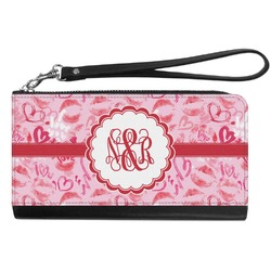 Lips n Hearts Genuine Leather Smartphone Wrist Wallet (Personalized)