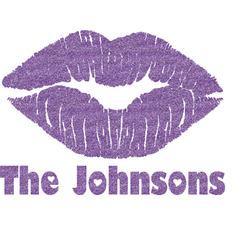 Lips n Hearts Glitter Sticker Decal - Custom Sized (Personalized)