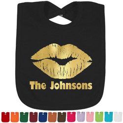 Lips n Hearts Foil Baby Bibs (Personalized)