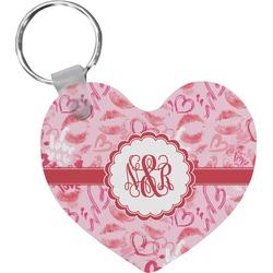 Lips n Hearts Heart Keychain (Personalized)