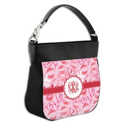 Lips n Hearts Hobo Purse w/ Genuine Leather Trim (Personalized)