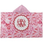 Lips n Hearts Kids Hooded Towel (Personalized)