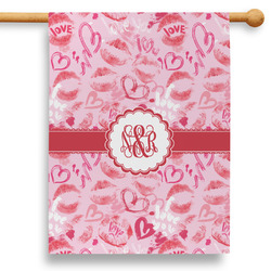 """Lips n Hearts 28"""" House Flag - Double Sided (Personalized)"""